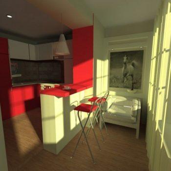 Кухня на балконе. Объединение балкона с кухней.