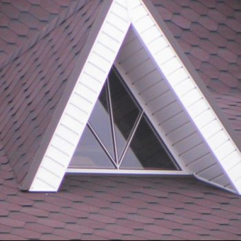 Треугольные пластиковые окна.
