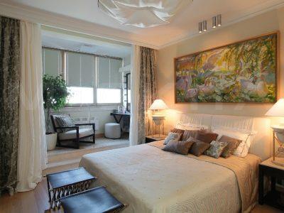 Объединение балкона с комнатой, балкон со спальней. Объединение балкона под ключ, фото и цены. Современные решения перепланировки.