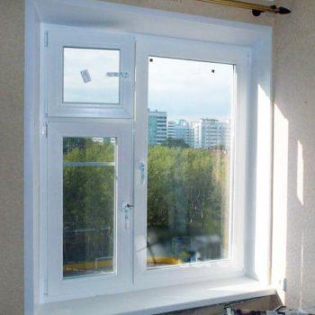 Пластиковые окна с форточкой.