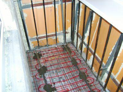 Утепление лоджии под ключ. Утепление балкона в Томске и остекление по ценам производителя. Установка теплого пола.