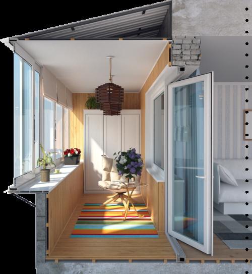 Остекление балконов в Томске, лоджии под ключ. Отделка балконов, утепление, крыша на балкон.
