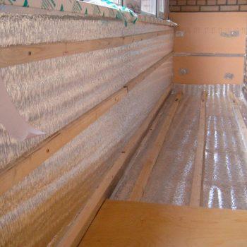 Утепление стен и пола на балконе.
