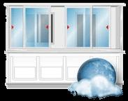 Холодное остекление балконов и лоджий от производителя пластиковых окон в Томске, ООО СТК БЭСТ. Остекление балконов алюминиевым профилем КРАМЗ.