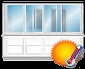 Теплое остекление балконов и лоджий от производителя пластиковых окон в Томске, ООО СТК БЭСТ. Остекление балконов пластиковым профилем Gealan, Rehau.